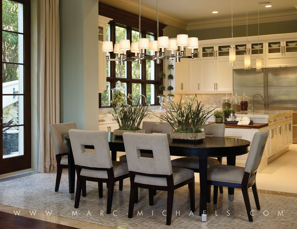 Contemporary Dining Room with Paint 1, Sunpan Modern Element Side Chair, French doors, Casement, Chandelier, Standard height