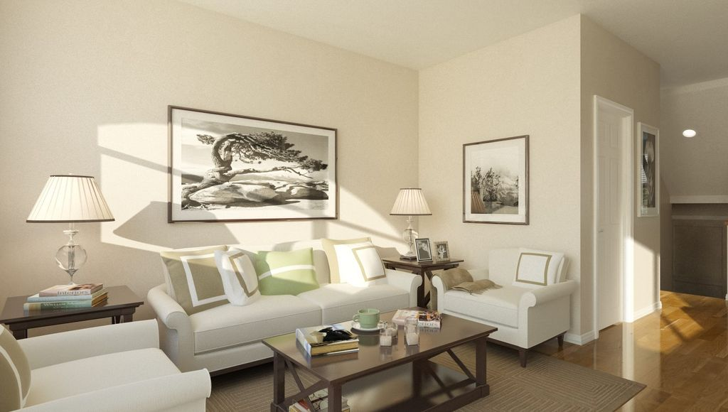 Traditional Living Room with Dexter Coffee Table, Hardwood floors, Cheshire Roll-Arm Sofas, Cheshire Roll-Arm Chair