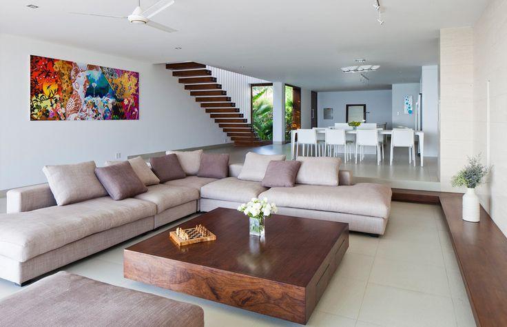 Ceiling fan, Flush/Semi-Flush Mount, Limestone, Modern, Normal (2.7m), Sunken Living Room