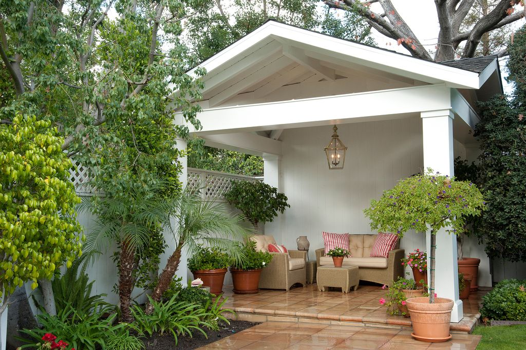 Traditional Porch with Pathway, exterior tile floors, exterior terracotta tile floors, Fence