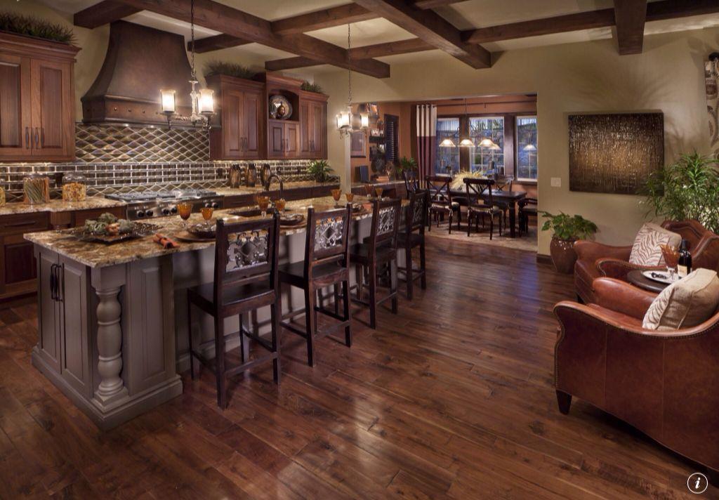 Craftsman Kitchen with Beckham dark barstool, 30-inch, One-wall, Raised panel, Kitchen island, Flush, Custom hood, Metal Tile