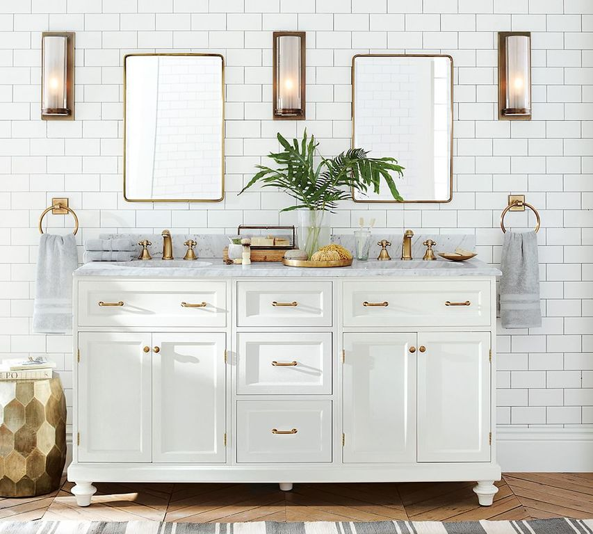 Traditional Full Bathroom with Undermount sink by Pottery Barn Zillow Digs