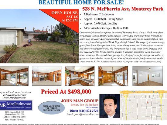 528 N Mcpherrin Ave, Monterey Park, CA 91754