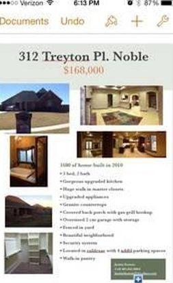 312 Treyton Pl, Noble, OK 73068