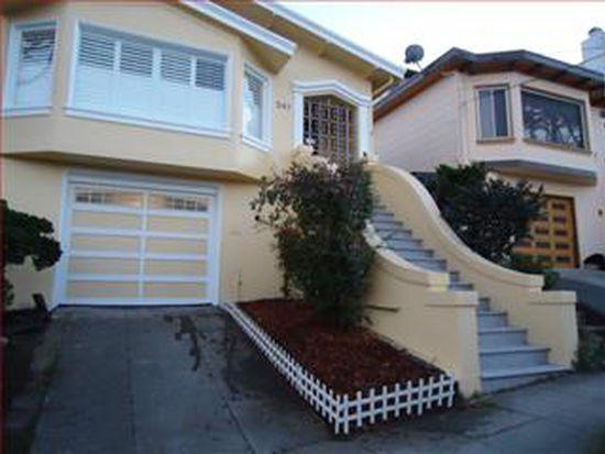 241 Winding Way, San Francisco, CA 94112