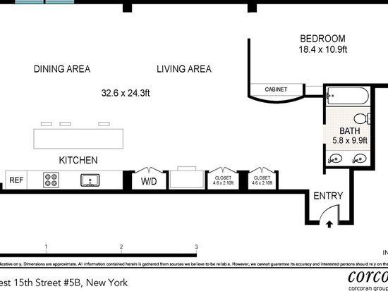 161 W 15th St APT 5B, New York, NY 10011
