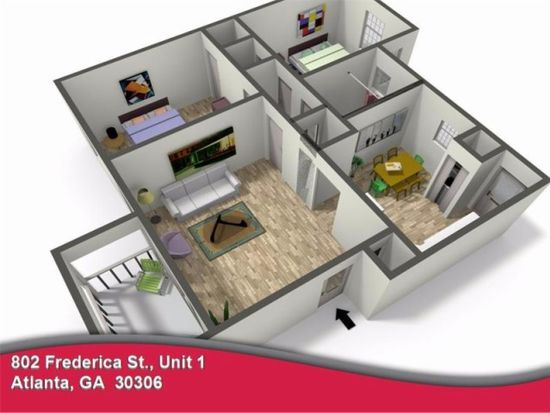 802 Frederica St NE APT 1, Atlanta, GA 30306