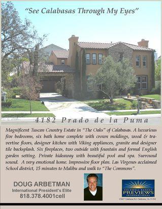 4182 Prado De La Puma, Calabasas, CA 91302