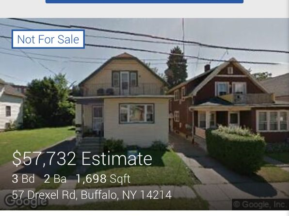 4 bed 2 bath Multi Family at 57 DREXEL RD BUFFALO, NY, 14214 is for sale at 65k - google static map