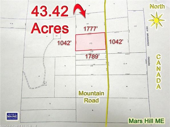 null bed null bath Vacant Land at 11D Mountain Rd Mars Hill, ME, 04758 is for sale at 35k - 1 of 10