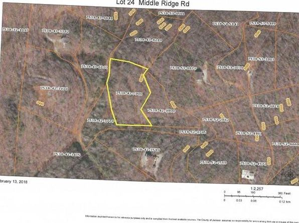 null bed null bath Vacant Land at  Lot 24 Middle Ridge Rd Sylva, NC, 28779 is for sale at 35k - google static map