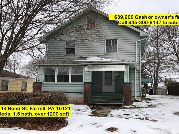 3 bed 2 bath Single Family at 1114 Bond St Farrell, PA, 16121 is for sale at 12k - 1 of 14