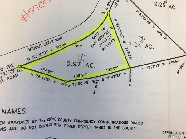 null bed null bath Vacant Land at  Middle Creek Rd Cosby, TN, 37722 is for sale at 11k - google static map