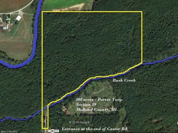 null bed null bath Vacant Land at 0 Vl S Castor Rd Breckenridge, MI, 48615 is for sale at 219k - google static map