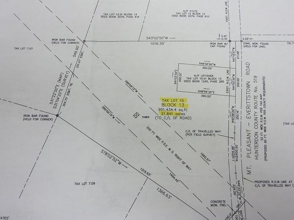 null bed null bath Vacant Land at 1726 County Road 519 Pittstown, NJ, 08867 is for sale at 249k - google static map