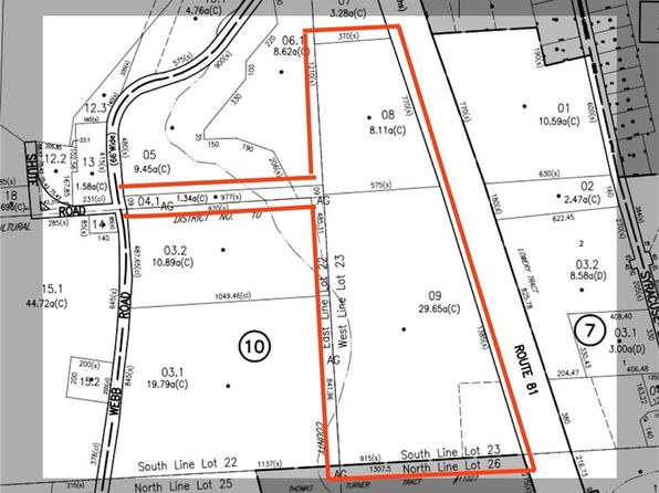 null bed null bath Vacant Land at 0 Webb Rd Lafayette, NY, 13084 is for sale at 175k - google static map