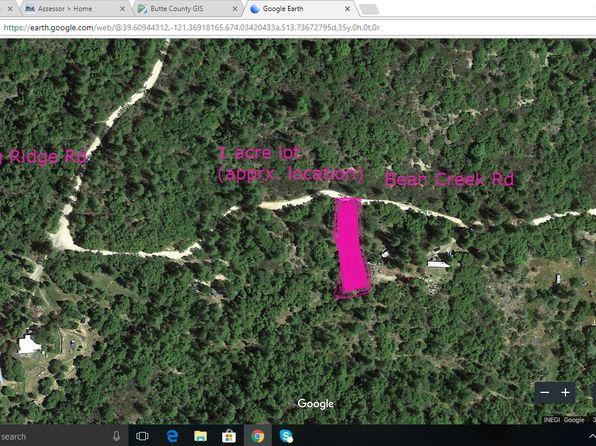null bed null bath Vacant Land at 118 Bean Creek Rd Berry Creek, CA, 95916 is for sale at 21k - google static map