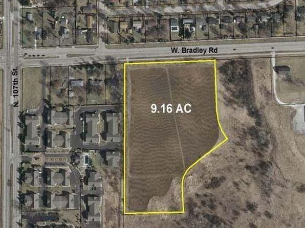 null bed null bath Vacant Land at 10401 W Bradley Rd Milwaukee, WI, 53224 is for sale at 200k - google static map