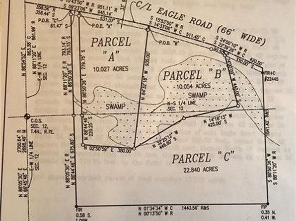null bed null bath Vacant Land at  Parcel A Eagle Rd Rose Twp, MI, 48442 is for sale at 85k - google static map