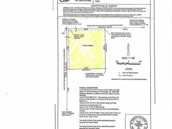 null bed null bath Vacant Land at  Goodrich Rd Alpena, MI, 49744 is for sale at 15k - 1 of 6