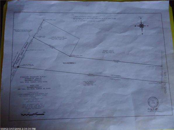 null bed null bath Vacant Land at 0 Tuell Hl Sumner, ME, 04292 is for sale at 28k - google static map