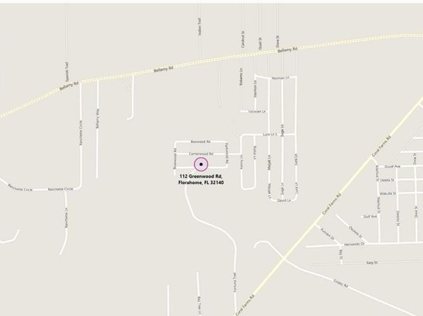 null bed null bath Vacant Land at 112 GREENWOOD RD FLORAHOME, FL, 32140 is for sale at 5k - google static map