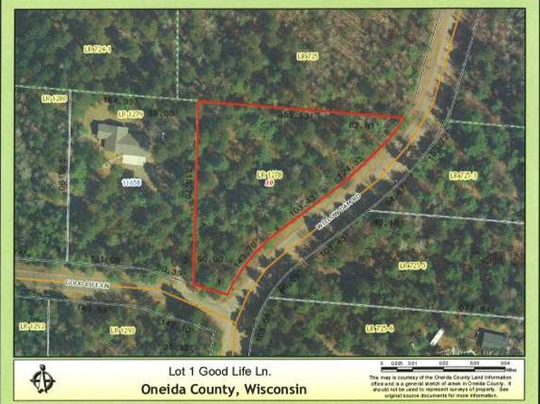 null bed null bath Vacant Land at  Good Life Rd Little Rice, WI, 54531 is for sale at 45k - google static map