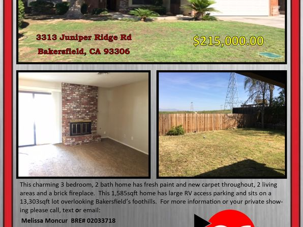 3 bed 2 bath Single Family at 3313 Juniper Ridge Rd Bakersfield, CA, 93306 is for sale at 215k - 1 of 16