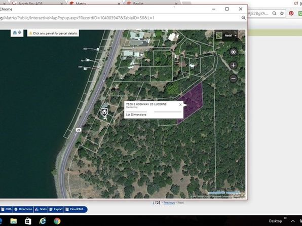 null bed null bath Vacant Land at 7100 E HIGHWAY 20 LUCERNE, CA, 95458 is for sale at 11k - 1 of 2