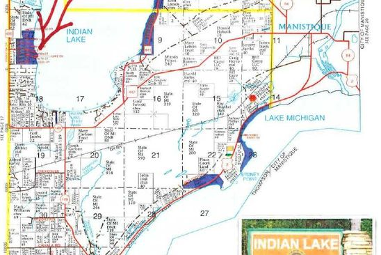 null bed null bath Vacant Land at  Tbd Hiawatha Shore Dr Thompson, MI, 49854 is for sale at 249k - google static map