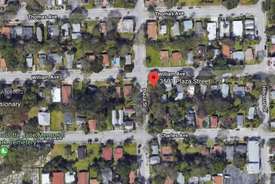3 bed null bath Vacant Land at 3501 Plaza St Miami, FL, 33133 is for sale at 250k - google static map