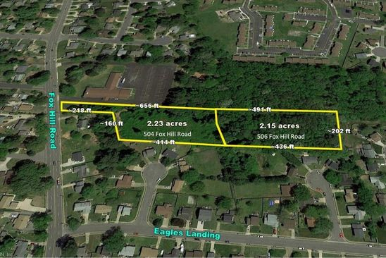 0 bed null bath Vacant Land at 506 Fox Hill Rd Hampton, VA, 23669 is for sale at 130k - google static map