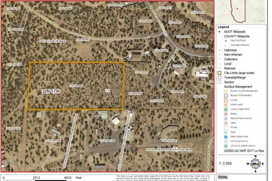 null bed null bath Vacant Land at  Tbd Jordon Ranch Rd Kingman, AZ, 86409 is for sale at 280k - google static map