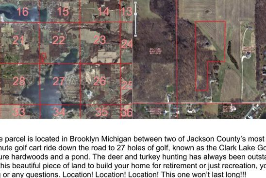 null bed null bath Vacant Land at  1 Brooklyn, MI, 49230 is for sale at 95k - google static map