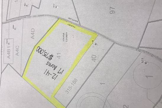 null bed null bath Vacant Land at 1A Hickory Creek Rd Louisa, VA, 23093 is for sale at 75k - google static map