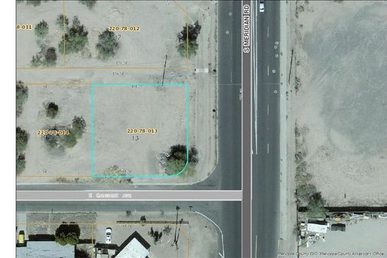 null bed null bath Vacant Land at 414 S Meridian Rd Apache Junction, AZ, 85120 is for sale at 52k - google static map