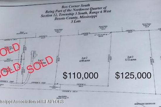 null bed null bath Vacant Land at 3 Box Corner Rd Byhalia, MS, 38611 is for sale at 125k - google static map