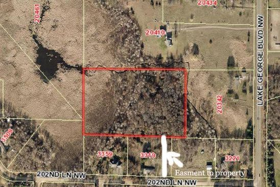null bed null bath Vacant Land at  Xxx 202nd Ln NW Oak Grove, MN, 55303 is for sale at 100k - google static map
