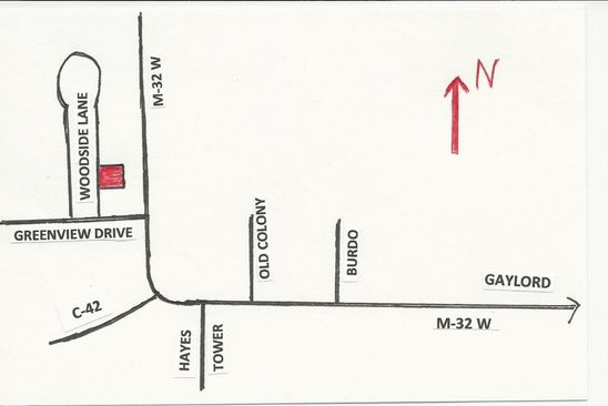 null bed null bath Vacant Land at  Woodside Ln Gaylord, MI, 49735 is for sale at 14k - google static map