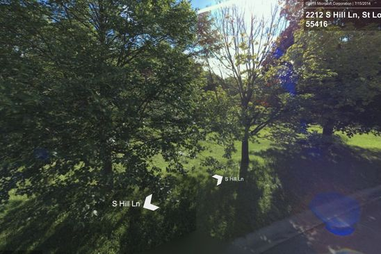 null bed null bath Vacant Land at 2212 S Hill Ln Saint Louis Park, MN, 55416 is for sale at 550k - google static map
