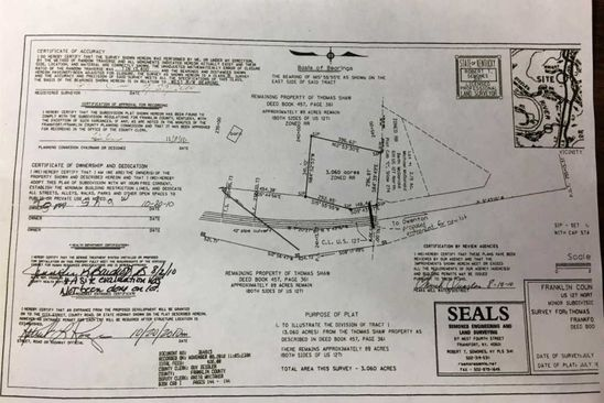 null bed null bath Vacant Land at N US Frankfort, KY, 40601 is for sale at 45k - google static map
