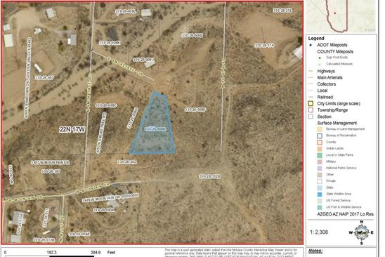 null bed null bath Vacant Land at  E Smoke Tree Cir Golden Valley, AZ, 86413 is for sale at 15k - google static map