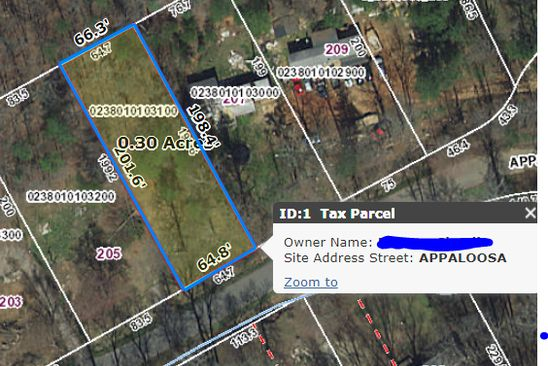 null bed null bath Vacant Land at 207 APPALOOSA DR GREENVILLE, SC, 29611 is for sale at 13k - google static map