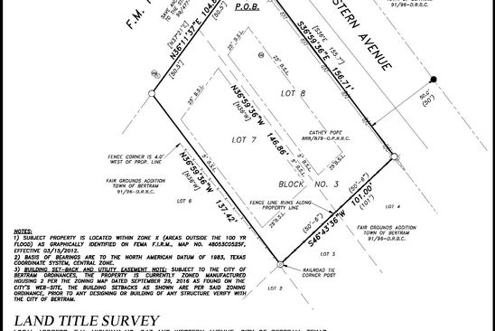 null bed null bath Vacant Land at 653 E FM 243 BERTRAM, TX, 78605 is for sale at 59k - google static map